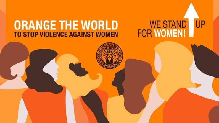 Ein Zeichen setzen gegen Gewalt an Frauen (Bild: Julia Karwan-Jastrzebska)