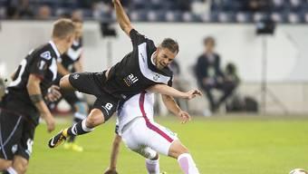 Davide Mariani und der FC Lugano geben in der Europa League in der Swissporarena in Luzern eine 1:0-Führung preis