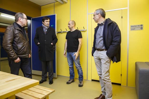 Remo Bill, François Scheidegger und Kurt Boner im Gespräch mit Bruno Calce