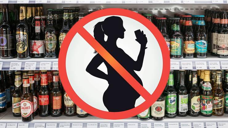 Alkohol gefährdet das ungeborene Kind.