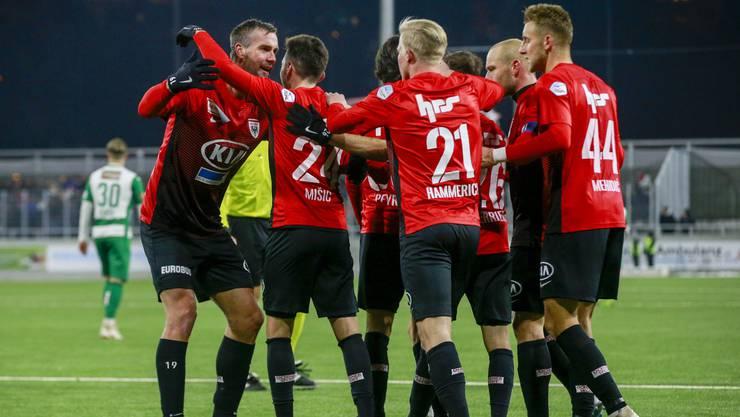 Der FC Aarau verabschiedet sich mit einem 2:1-Sieg gegen Kriens in die Winterpause.