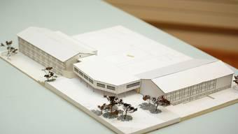 Der von der Gemeindeversammlung bewilligte Erweiterungsbau (Bildmitte) verbindet die bestehenden Schulhäuser miteinander. ZVG