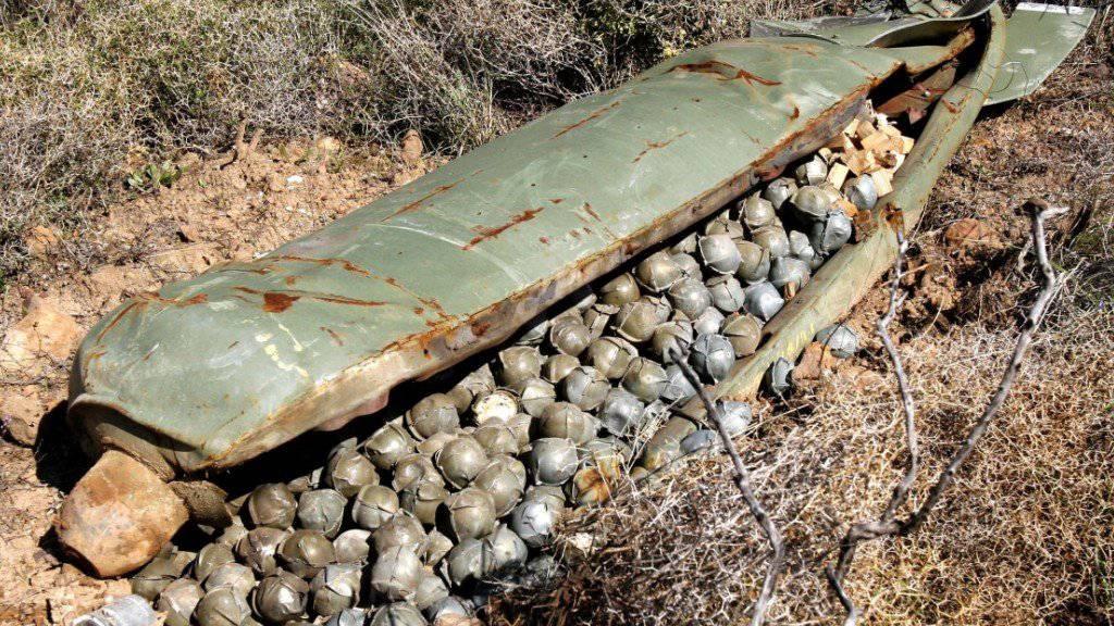 Streubomben mit nicht explodierter Submunition fordern immer wieder Opfer unter der Zivilbevölkerung. (Archiv)