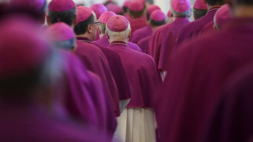 Deutsche katholische Bischöfe am Dienstag bei ihrer Herbst-Vollversammlung in Fulda.