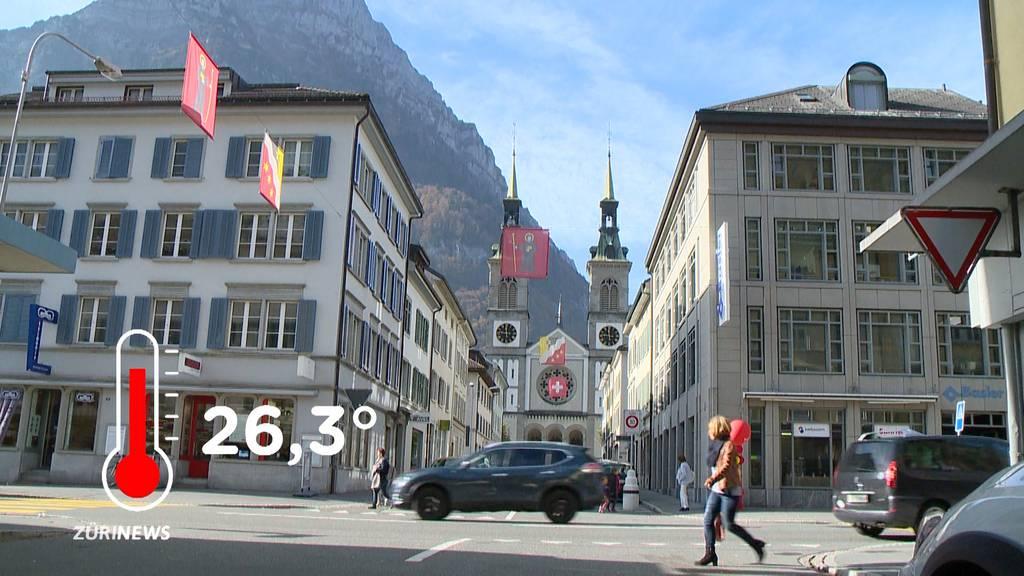 Hitzerekord: 26,3 Grad im Oktober in Glarus