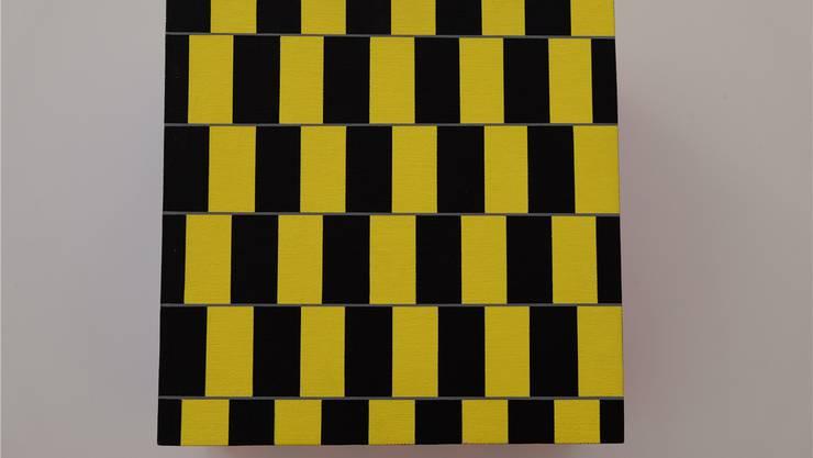 Einfach und hypnotisch: Die abwechselnden gelben und schwarzen Rechtecke sind den graden Schlägen des Disco-Beats nachempfunden.