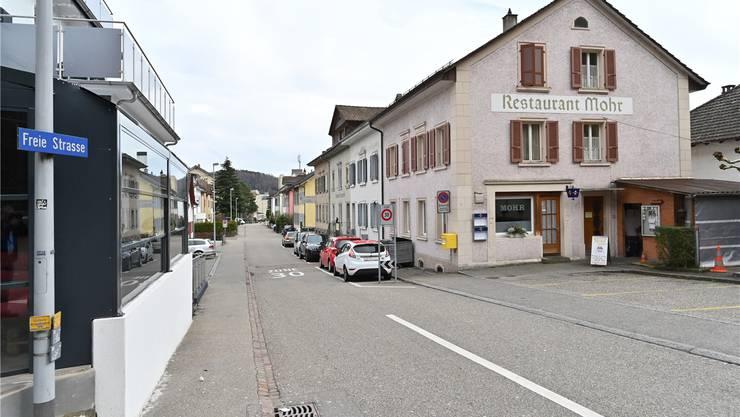 Ginge es nach dem Vorschlag des Trimbacher Gemeinderats, würde die Freie Strasse bald eine Einbahnstrasse sein. Bruno Kissling