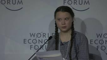 Die 16-jährige Klimaaktivistin Greta Thunberg ist einer der Medienstars am WEF in Davos. Ihr Rede will Politiker und Unternehmer wachrütteln.