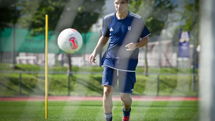 Ex-FC-Aarau-Spieler Cristian Ianu schoss gegen Vaduz das 2:1.
