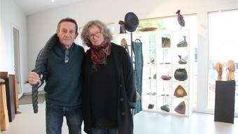 Martin Hufschmid und Anna Stöcklin freuen sich auf die Ausstellung, die 30 Jahre Schaffen abbildet. Andrea Weibel