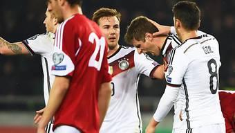 Thomas Müller (2.v.r.) traf für Deutschland zum 2:0-Schlussresultat