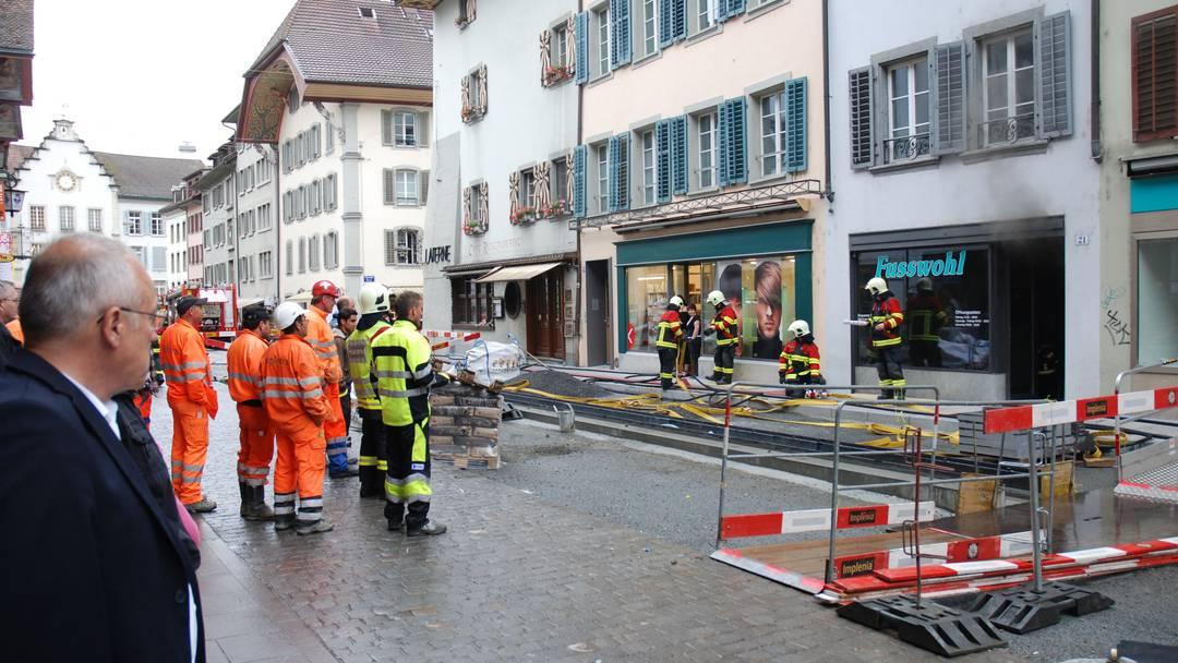 Brand in der Aarauer Altstadt