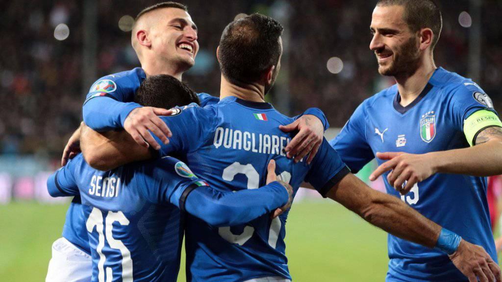 Italien feiert gegen Liechtenstein seinen höchsten Sieg seit 1962