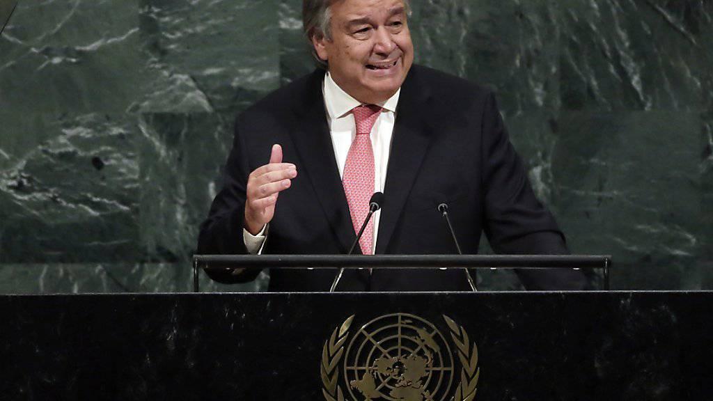 Uno-Generalsekretär Antonio Guterres hat in seiner Neujahrsansprache angesichts der Konflikte auf der Welt die «Alarmstufe rot» ausgerufen. (Archiv)