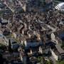 Luftaufnahme der Stadt Aarau