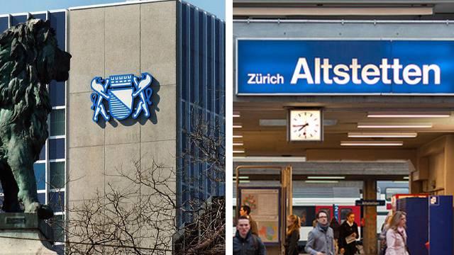 Das Stadtverwaltungszentrum «Werd» (links) kommt an seine Grenzen. Ein neues Zentrum beim Bahnhof Altstetten soll in zehn bis fünfzehn Jahren errichtet werden.