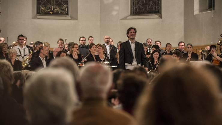 Grosser Applaus für die Musikerinnen und Musiker der MG Concordia und des OV Reinach unter der Leitung von David Reitz