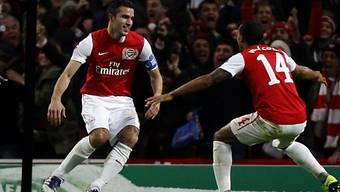 Zwei Treffer von Robin van Persie bei Arsenals Sieg gegen Dortmund