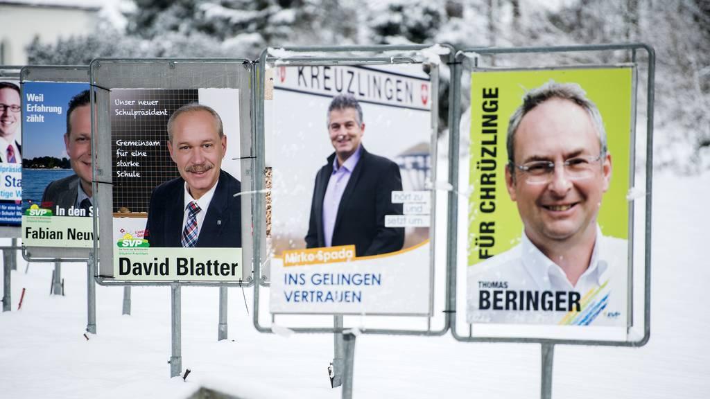 Im Jahr 2015 reihte sich ein Plakat am nächsten in Kreuzlingen.