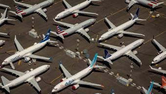 Wegen eines globalen Flugverbots stehen hunderte Boeing 737 Max-8 Flugzeuge auf Rollfeldern, Flugplätzen und Firmenparkplätzen herum.