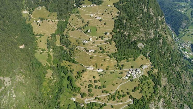 Das vergessene Dorf: In diesem Weiler oberhalb von Brusio hat Wirtschaftsminister Guy Parmelin am 1. August seine Ansprache gehalten.
