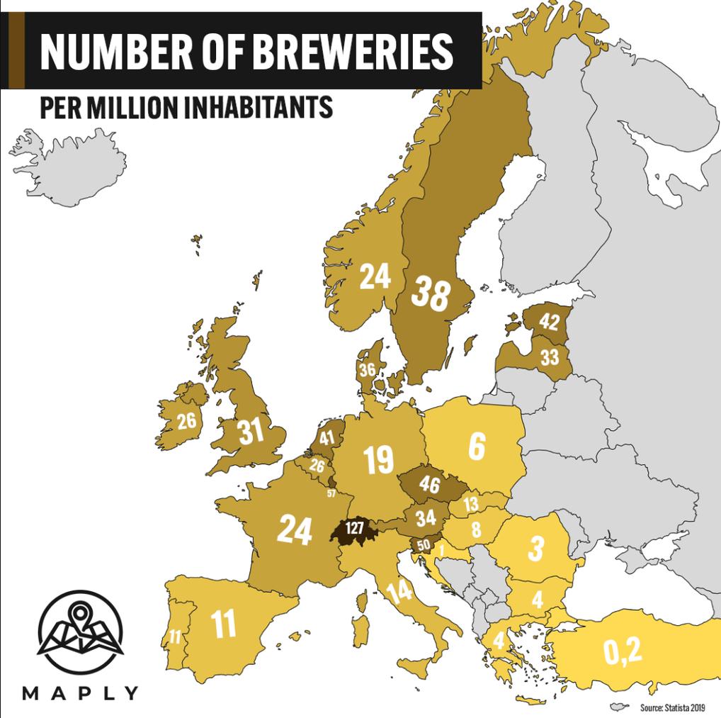 Karte Bier-Brauerein