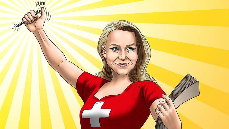 Helvetia wählt - die Illustration von Silvan Wegmann.