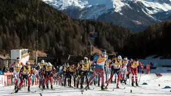 Tour-de-Ski-Start vor drei Jahren im Münstertal. Damals mit weniger Schnee, dafür mit Zuschauern.