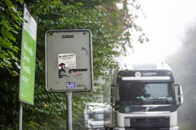 Das Schwulenwäldli liegt nahe der Autobahnausfahrt Mägenwil