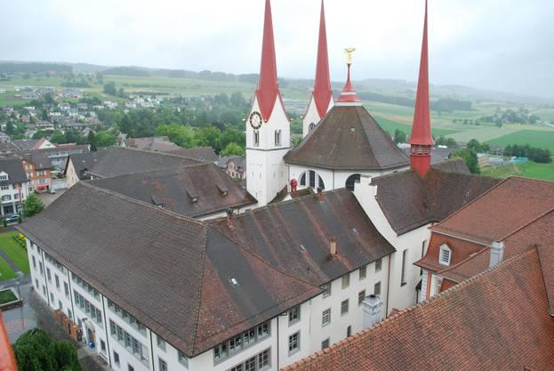 Kloster Muri aus einer ungewohnten Perspektive