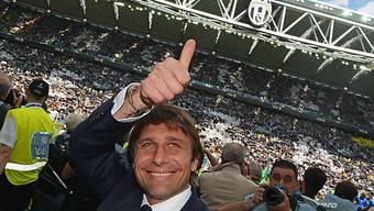 Antonio Conte nach dem Gewinn des dritten Meistertitels in Serie.