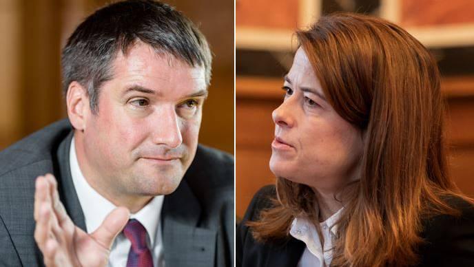 Streit um Rahmenabkommen: Die Parteichefs Christian Levrat und Petra Gössi gehen ans Eingemachte.