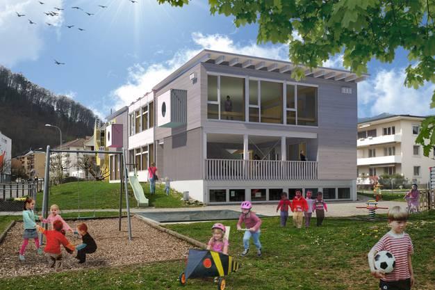 Gemäss Plan wird im Herbst 2020 dieses Gebäude an der Brückenstrasse stehen.