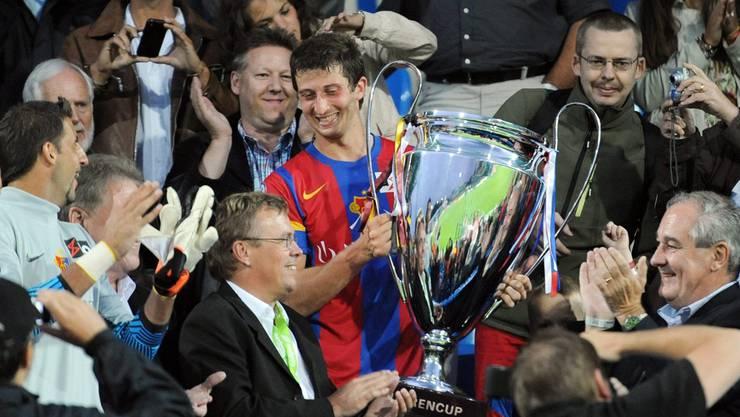 Der FC Basel gewann 2011 am letzten Uhrencup – und will den Pokal auch in diesem Jahr verteidigen.