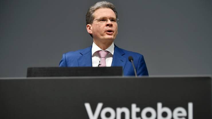 Vontobel-CEO Zeno Staub konnte am Dienstag solide Zahlen präsentieren.