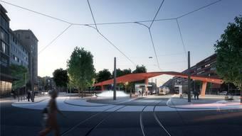 Voraussichtlich ist 2019 Baustart für das neue Schlieremer Zentrum mit Flügeldach und Nebelbrunnen.
