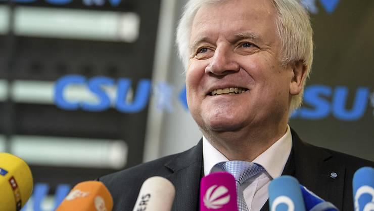 Zufrieden: CSU-Chef Horst Seehofer.