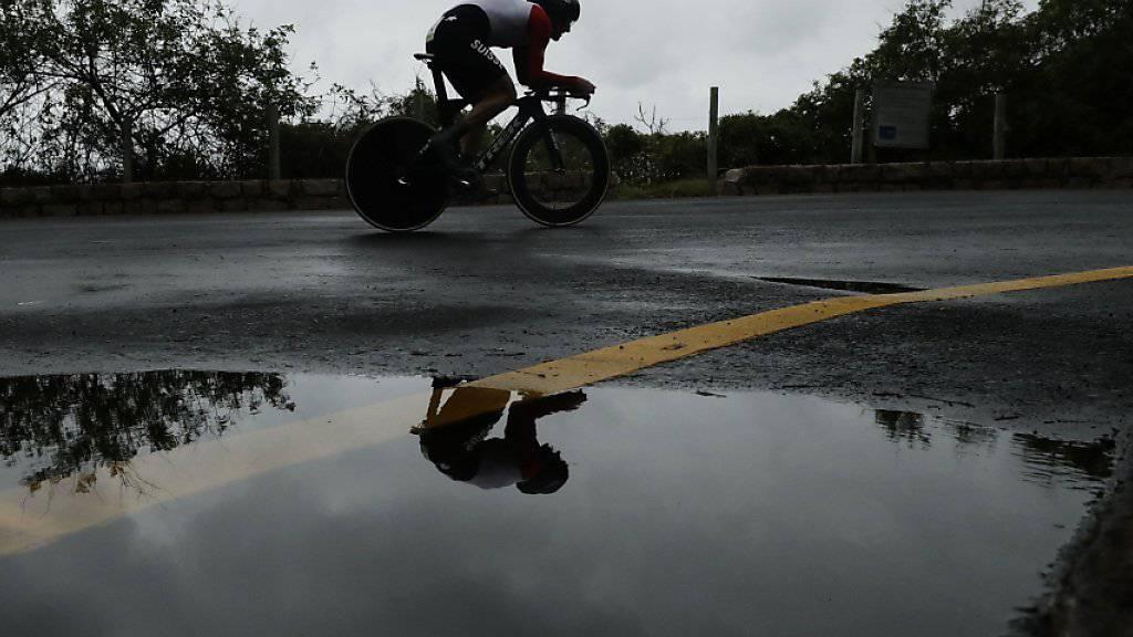 Fabian Cancellara gleitet in Japan ein letztes Mal in einem Profirennen über den Asphalt. (Archivbild)