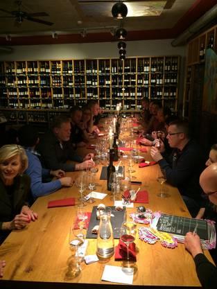 Gut besuchte Weindegustation 2015