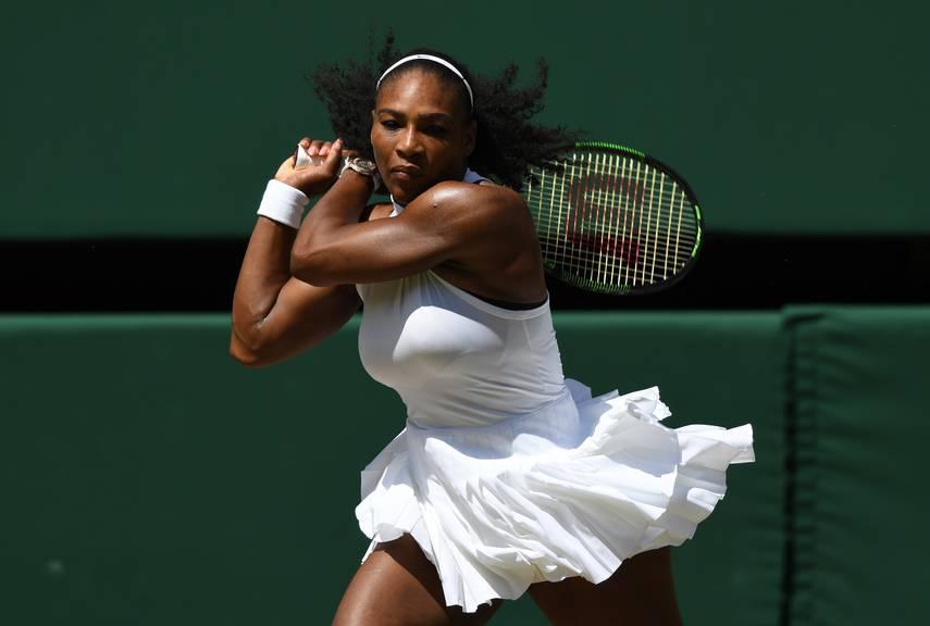 In Wimbledon auch brav in Weiss: Serena Williams.
