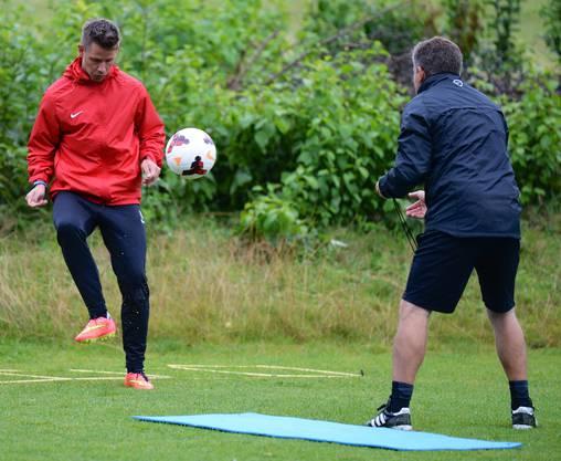 Dusan Djuric mit Konditionstrainer Reto Jäggi