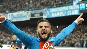 Kein Siegerjubel: Lorenzo Insigne traf zum 1:0 für Napoli, am Ende reichte es aber nur zu einem Remis