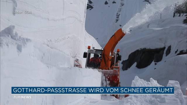 Schneeräumung Gotthard: Doppelt soviel Schnee wie im Vorjahr