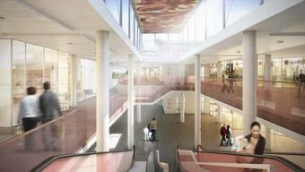 Die Mall im City Märt soll heller und freundlicher werden. Mitte Juni beginnen die Arbeiten. Visualisierung: Architekten Husistein & Partner