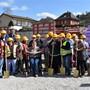 Gemeinsam mit Bewohnern und Beschäftigten wurde in Laufenburg der Spatenstich für das Neubauprojekt der Stiftung MBF gefeiert. nbo