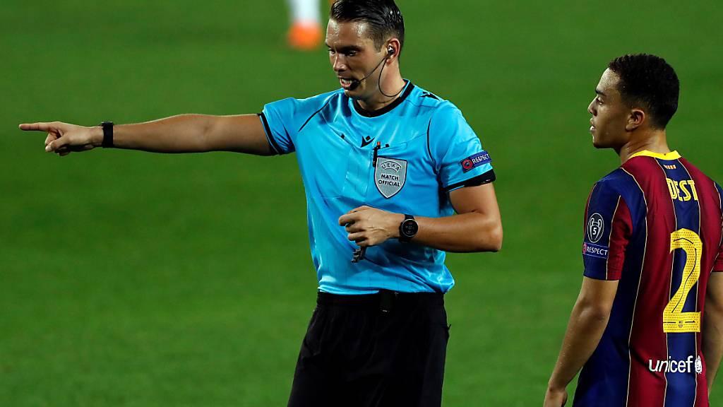 Sandro Schärer pfeift am Mittwoch das Champions-League-Spiel zwischen Bayern München und Lokomotive Moskau