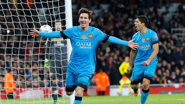 Messi hat Grund zum Jubeln