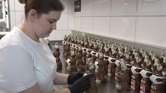 Aargauer Confiserie landet mit Corona-Schokoladehasen einen Verkaufs-Hit