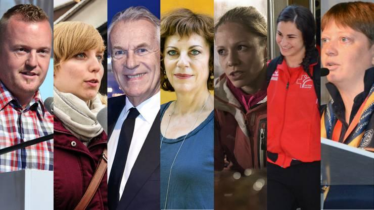 v.l.n.r.: Rico Peter, Johanna Gündel, Pepe Lienhard, Sabine Boss, Marit Neukomm, Elena Quirici, Corinna Hauri
