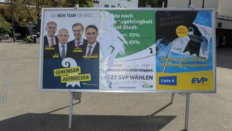Wahlplakate in der Basler Innenstadt